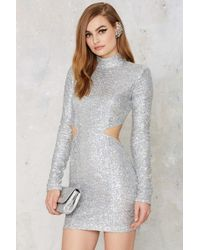 Nasty Gal | Take A Shine Sequin Cutout Dress | Lyst