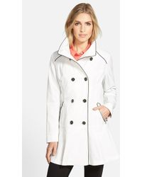 Guess Piped Stand-Collar Trench Coat - Lyst