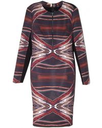 Yigal Azrouël | Gathered Abstract Print Dress | Lyst