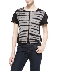 Young Fabulous & Broke Joy Tie-dye Zebra-print Top - Lyst