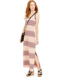 Tommy Hilfiger Multi-Stripe Maxi Dress - Lyst