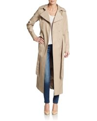 T Tahari Sage Double-Breasted Trenchcoat - Lyst