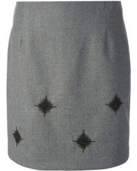 Sharon Wauchob - Beaded Embroidery Straight Skirt - Lyst