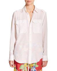 Polo Ralph Lauren Military Cotton Shirt - Lyst
