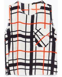 Zara Printed Top - Lyst