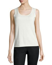 Belford - Scoop-neck Cotton-blend Tank - Lyst