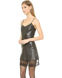 Love Leather The Slip Dress - Black - Lyst