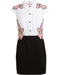 Carven Floral Embroidered Cotton Dress - Lyst