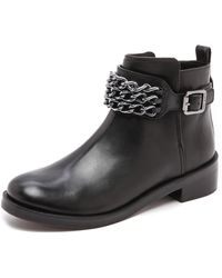 Tory Burch Bloomfield Flat Booties  Blackblack - Lyst