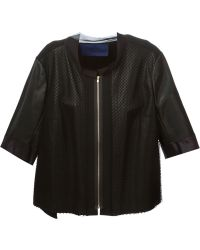 Sharon Wauchob - Panelled Leather Jacket - Lyst