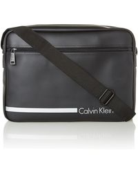 Calvin Klein Black Messenger Bag - Lyst