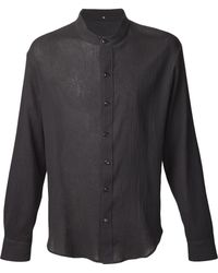 Peter Cohen Mandarin Collar Shirt - Lyst