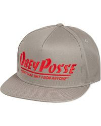 Obey Posse Snapback Cap Grey - Lyst