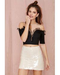 Nasty Gal Shiner Sequin Skirt - Lyst