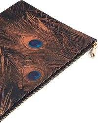 Givenchy | Peacock Feather Print Large Zip Pouch | Lyst