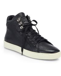 Rag & Bone Kent Leather Platform High-Top Sneakers - Lyst