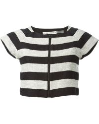 Alice + Olivia Striped Cropped Top - Lyst