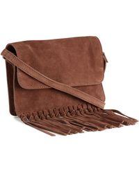 H&M Suede Shoulder Bag - Lyst