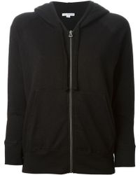 James Perse Black Hoodie Sweatshirt - Lyst