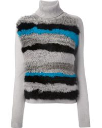 Opening Ceremony - Striped Fur Jumper - Lyst