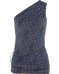 Weargrace Monk Printed Stretch-Jersey Top - Lyst