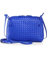 Bottega Veneta Small Leather Messenger Bag - Lyst