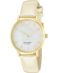 Kate Spade Ladies Goldtone Metro Watch - Lyst