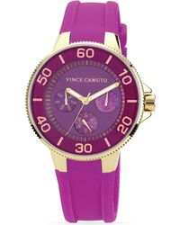 Vince Camuto - Purple Silicone Strap Watch 41mm - Lyst