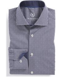 Bugatchi Trim Fit Check Dress Shirt blue - Lyst