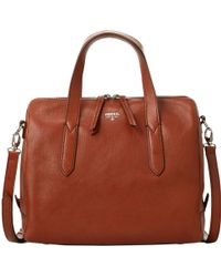 Fossil - Sydney Leather Satchel Bag - Lyst