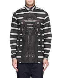 Givenchy Stripe Robot Print Poplin Shirt - Lyst