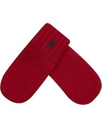 Ralph Lauren - Wool Mittens, Boy's, Size: 1 Size, Fall Red - Lyst