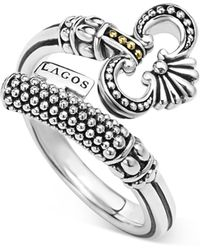 Lagos | Sterling Silver Skeleton Key Ring With 18k Gold | Lyst