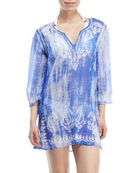 Spiaggia Dolce | Embroidered Tie-Dye Cover-Up | Lyst