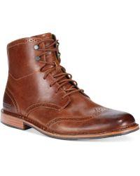 Sebago Hamilton Ii Wing-tip Boots - Lyst
