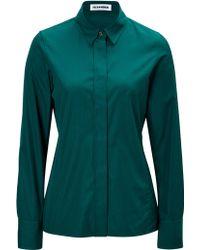 Jil Sander Cotton Shirt - Lyst