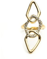 Alexis Bittar Kinetic Gold Encrusted Link Ring - Lyst