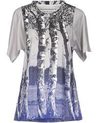 Balenciaga Blue T-shirt - Lyst