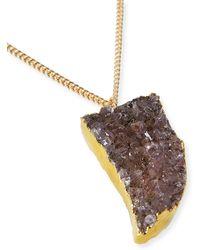 Panacea Purple Druzy Horn Pendant Necklace - Lyst