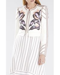 BCBGMAXAZRIA Duke Embroidered Jacquard Jacket - Lyst