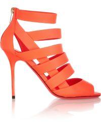 Jimmy Choo Damsen Neon Matteleather Sandals - Lyst