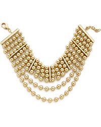Fallon Bead Choker Necklace - Gold - Lyst