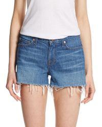 J Brand Cutoff Denim Shorts - Lyst