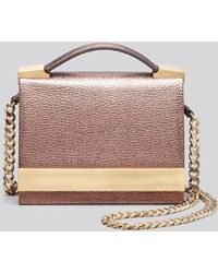B Brian Atwood Crossbody Ava Metallic Top Handle - Lyst