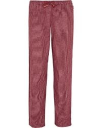 CALVIN KLEIN 205W39NYC - Plaid Cotton-Flannel Pajama Pants - Lyst