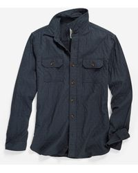 Cole Haan | blue Men's Pinch Long Sleeve Quilted Shirt | Lyst