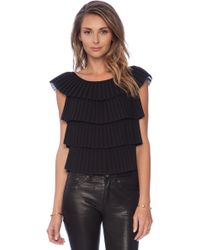 Milly Pleated Layer Top - Lyst