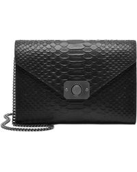 Mulberry Delphie Snake-Embossed Clutch - Lyst