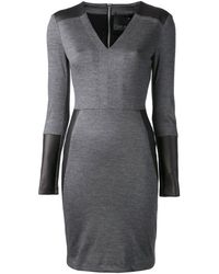 Yigal Azrouel Jersey Leather Panel Dress - Lyst