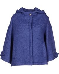 John Galliano Purple Coat - Lyst